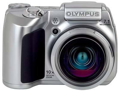 Olympus SP-510 UltraZoom stříbrný + nabíječka + 4x AA 2350 mAh + DVD film zdarma!