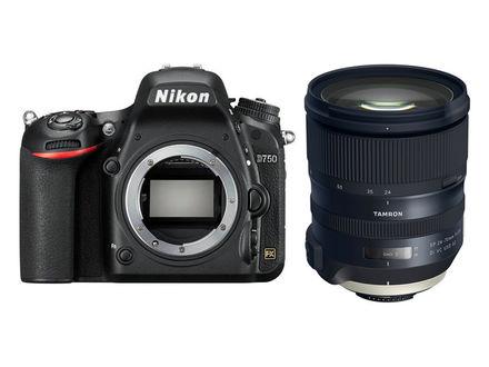 Nikon D750 + Tamron AF SP 24-70 mm f/2,8 Di VC USD G2