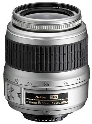 Nikon AF-S 18-55 mm f/3,5-5,6G ED II stříbrný
