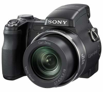 Sony DSC-H9 černý + MS 2 GB DUO karta!