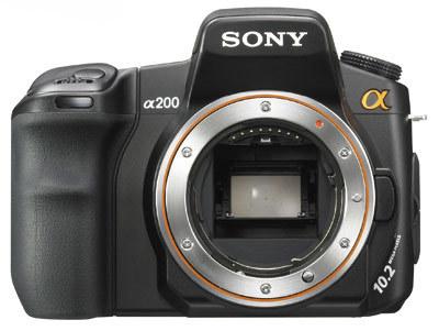 Sony Alpha A200 tělo