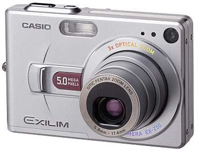Casio EXILIM - Z50 silver, red
