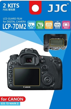 JJC ochranná folie LCD LCP-7DM2 pro Canon EOS 7D Mark II