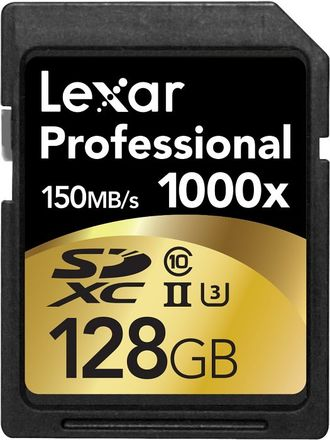 Lexar SDXC 128GB 1000x Professional UHS-II class 10