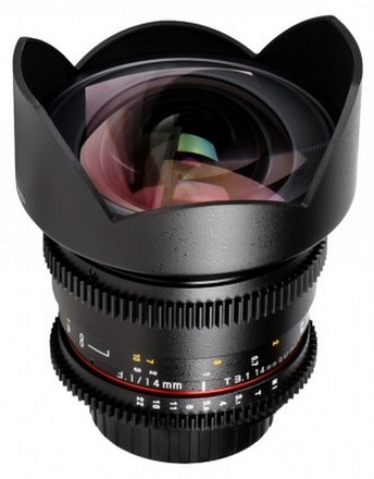 Samyang CINE 14mm T/3,1 VDSLR II pro Canon