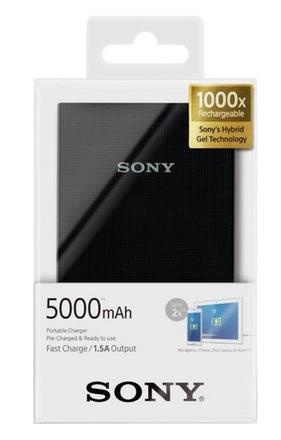 Sony externí baterie a USB nabíječka CP-V5A černá