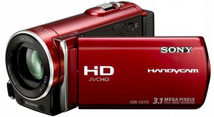 Sony HDR-CX115 červená + 16GB karta zdarma!
