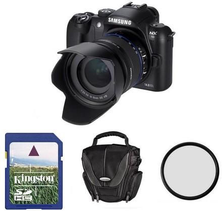 Samsung NX10 + 18-55 mm OIS + 8GB karta + brašna Surr. 130 + filtr UV 58mm!