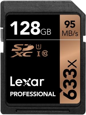 Lexar SDXC 128GB 633x, class 10, UHS-I
