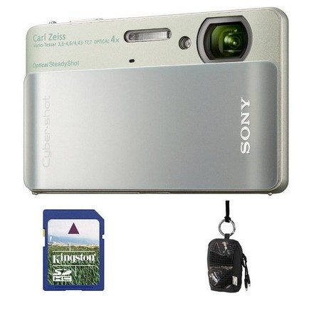 Sony CyberShot DSC-TX5 stříbrno-zelený