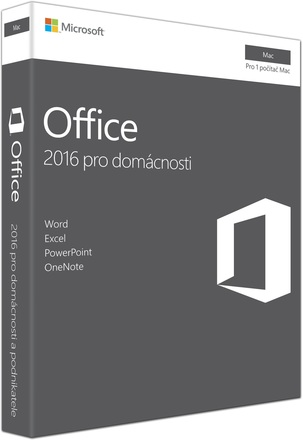 Microsoft Office Mac 2016 pro domácnosti CZ