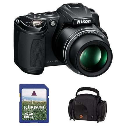 Nikon Coolpix L120 černý + 4GB karta + pouzdro DFV42!