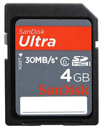 SanDisk SDHC Ultra 4GB 30MB/s Class 6