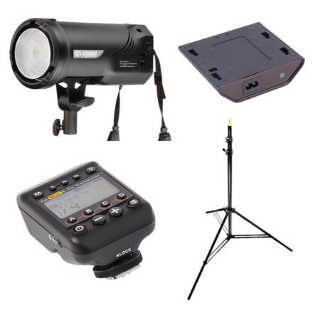 Fomei Digitalis Pro T400 TTL + síťový zdroj + vysílač + stojan (Nikon)!