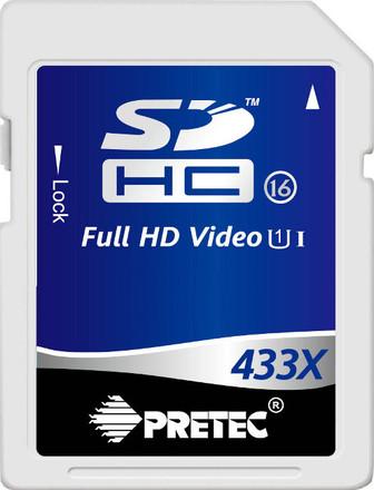 Pretec 8 GB SDHC 433x, class 16, UHS-I
