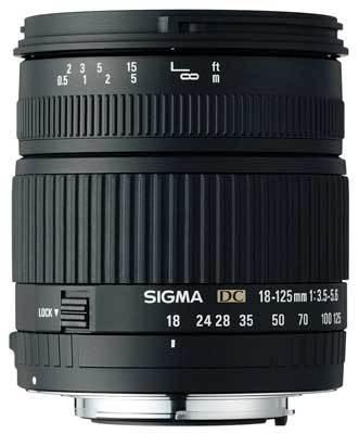 Sigma 18-125 mm F 3,5-5,6 DC pro Canon