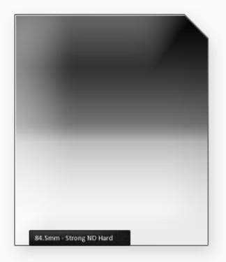 84.5mm Classic 100mm ND filtr silný s ostrým přechodem