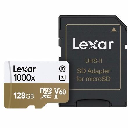 Lexar microSDXC 128GB 1000x Professional Class 10 UHS-II U3 A2 (V60)