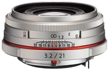 Pentax HD DA 21mm f/3,2 ED AL Limited stříbrný