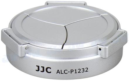 JJC automatická krytka objektivu ALC-P1232 pro Lumix G Vario 12-32mm stříbrná