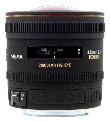 Sigma 4,5mm f/2,8 EX DC Circular Fisheye HSM pro Nikon