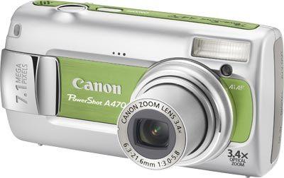 Canon PowerShot A470 zelený