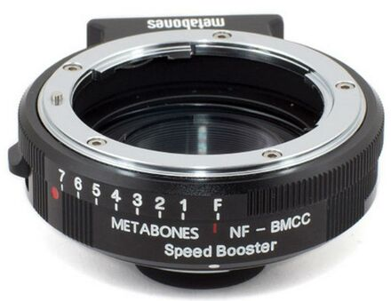 Metabones Speed Booster 0.64x z Nikon G na Blackmagic 2.5k Cinema Camera (BMCC Micro 4/3)