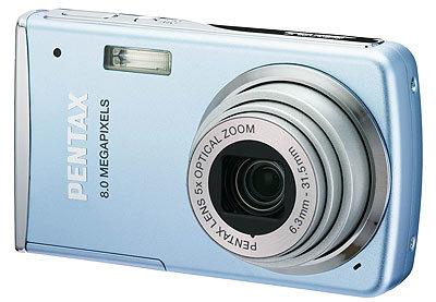 Pentax Optio M50 světle modrý