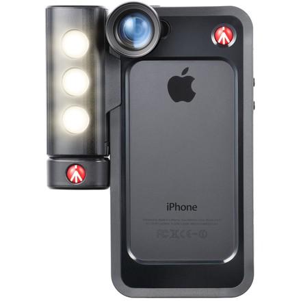 Manfrotto MCKLYP5S BUMPER + LED světlo pro iPhone 5/5s černé