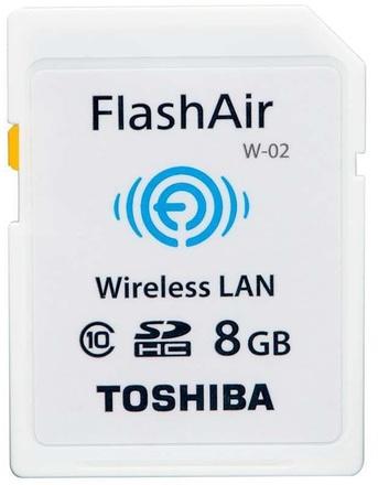 Toshiba SDHC 8GB FlashAir Wi-Fi Wireless