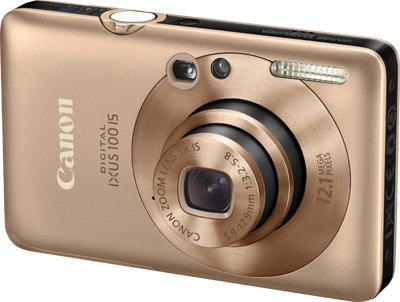 Canon IXUS 100 IS zlatý