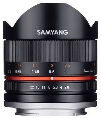 Samyang 8mm f/2,8 UMC rybí oko II pro Sony E stříbrný Samyang 8mm f/2,8 UMC rybí oko II pro Sony E černý