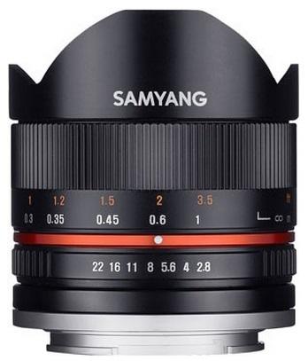 Samyang 8mm f/2,8 rybí oko II pro Fuji X stříbrný