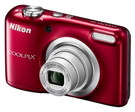 Nikon Coolpix A10 červený + 16GB karta + pouzdro 70G + ministativ + čisticí utěrka!