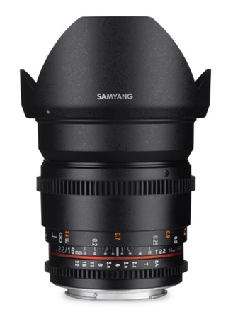 Samyang CINE 16mm T/2,2 VDSLR II pro micro 4/3