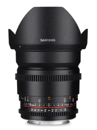 Samyang CINE 16mm T/2,2 VDSLR II pro Nikon