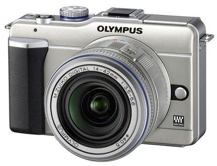 Olympus E-PL1 zlatý + 14-150 mm