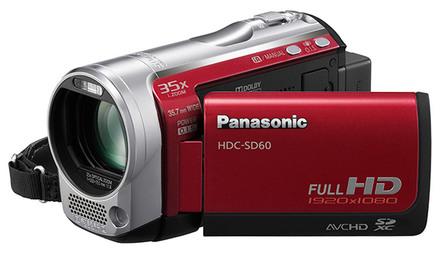 Panasonic HDC-SD60 červená