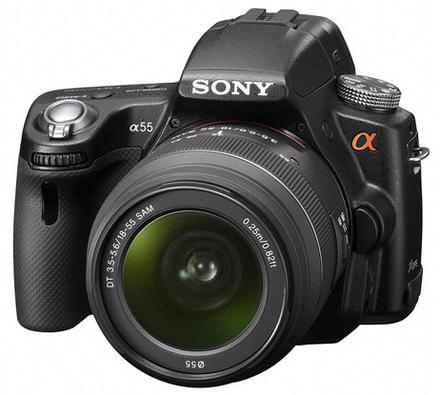 Sony Alpha A55 + 18-55 mm + ochranný filtr 55mm zdarma!