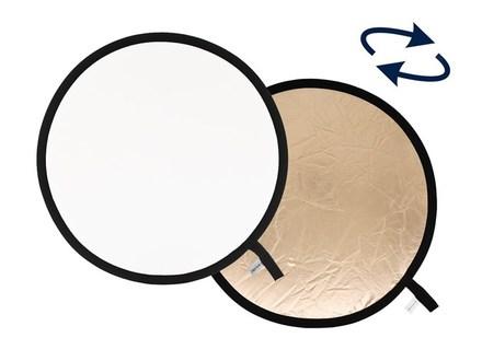 Lastolite odrazná deska kulatá 30cm sluneční oheň/bílá