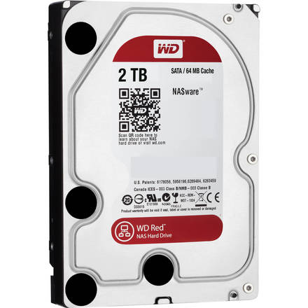 "Western Digital Red 2TB HDD, 3.5"" NAS WD20EFRX"