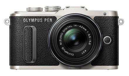 Olympus PEN E-PL8 + blesk FL-LM1 + 12-50 mm černý
