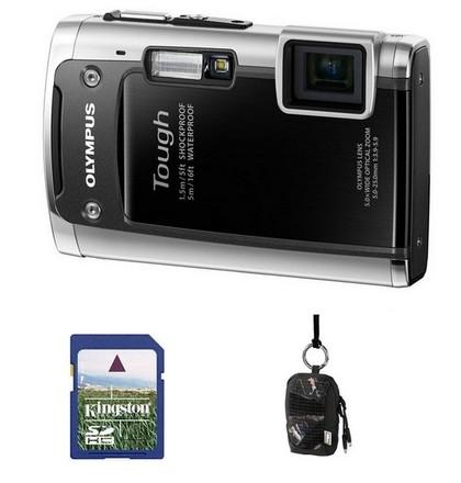 Olympus TG-610 černý + 8GB karta + Aha pouzdro 70J!