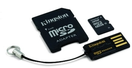 Kingston 32GB micro SD + SD adaptér + microSD čtečka Gen2 class 10