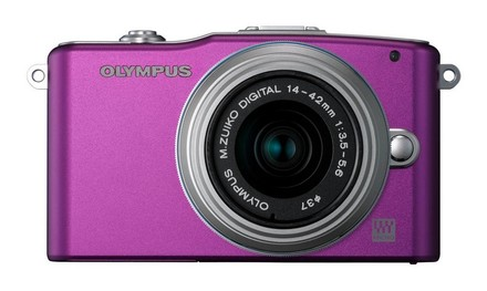 Olympus E-PM1 + 12-50 mm fialový