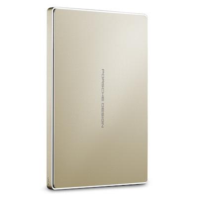 """LaCie Porsche Design Mobile 2TB HDD, 2.5""""USB-C (USB 3.0), hliníkový, zlatý"""