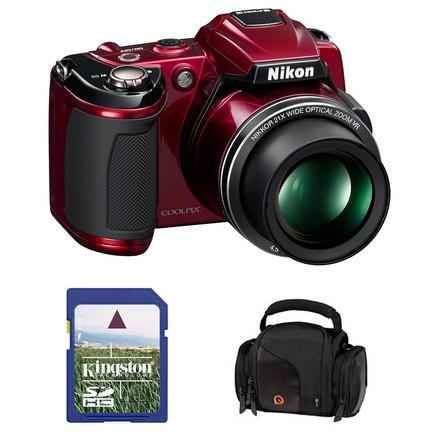 Nikon Coolpix L120 červený + 4GB karta + pouzdro DFV42!