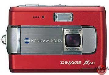 Konica Minolta DiMAGE X60 červená