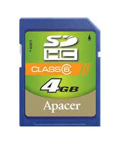 Apacer SDHC 4GB Class 6