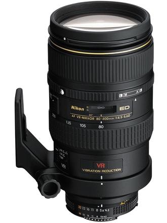 Nikon 80-400mm f/4,5-5,6 D VR ZOOM-NIKKOR s HB-24 / CL-M1